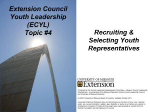 Extension Council Youth Leadership (ECYL) Recruiting &