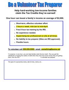 Help hard-working low-income families claim the Tax Credits they've earned!