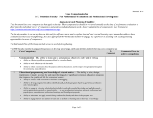 Core Competencies for  Assessment and Planning Checklist