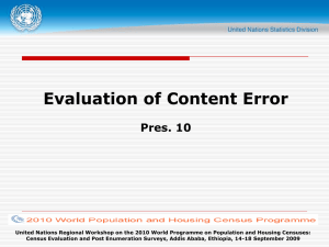 Evaluation of Content Error Pres. 10