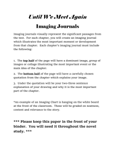 Until We Meet Again Imaging Journals