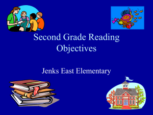 Second Grade Reading Objectives Jenks East Elementary
