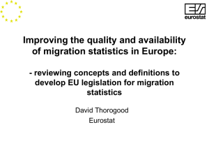 Improving the quality and availability of migration statistics in Europe: