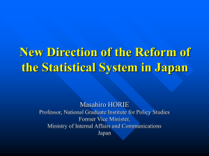 New Direction of the Reform of the Statistical System in Japan