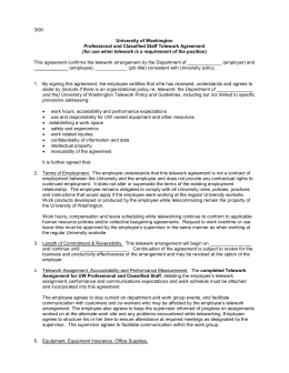 Central washington university staff telework agreement 300 this agreement confirms the telework arrangement by the department of platinumwayz