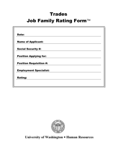 Trades Job Family Rating Form 