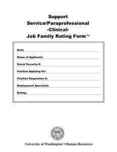 Support Service/Paraprofessional -Clinical-