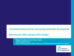 A statistical framework for measuring sustainable development -