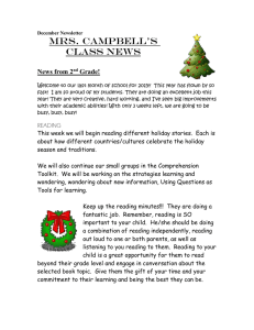 Mrs. Campbell's Class News  News from 2