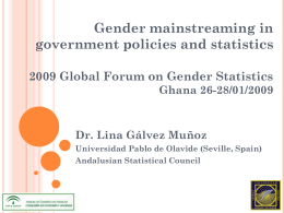 Gender mainstreaming in government policies and statistics Ghana 26-28/01/2009