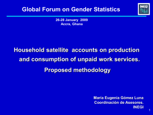 Global Forum on Gender Statistics Household satellite  accounts on production