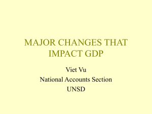 MAJOR CHANGES THAT IMPACT GDP Viet Vu National Accounts Section