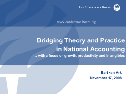 Bridging Theory and Practice in National Accounting . -