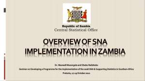 Central Statistical Office Republic of Zambia