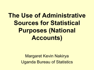 The Use of Administrative Sources for Statistical Purposes (National Accounts)