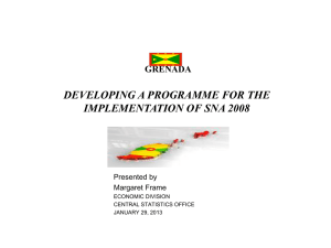 DEVELOPING A PROGRAMME FOR THE IMPLEMENTATION OF SNA 2008 GRENADA Presented by