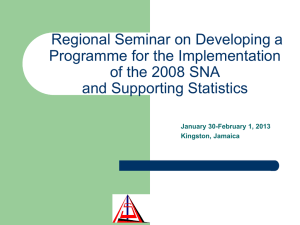 Regional Seminar on Developing a Programme for the Implementation and Supporting Statistics