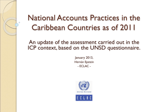 National Accounts Practices in the Caribbean Countries as of 2011