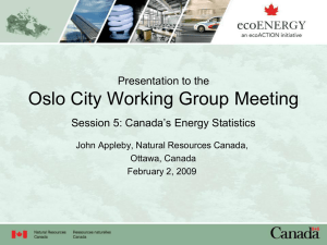 Oslo City Working Group Meeting Presentation to the