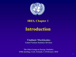 Introduction IRES, Chapter 1 Vladimir Markhonko