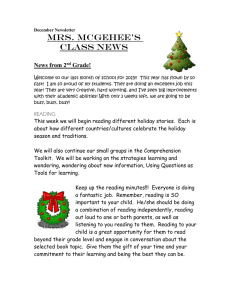 Mrs. McGehee's Class News  News from 2