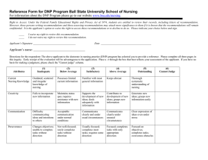 Reference Form for DNP Program Ball State University School of...  . www.bsu.edu/nursing