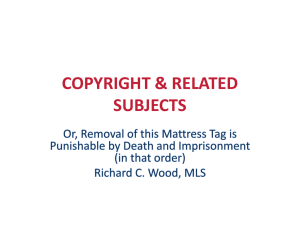 COPYRIGHT & RELATED SUBJECTS