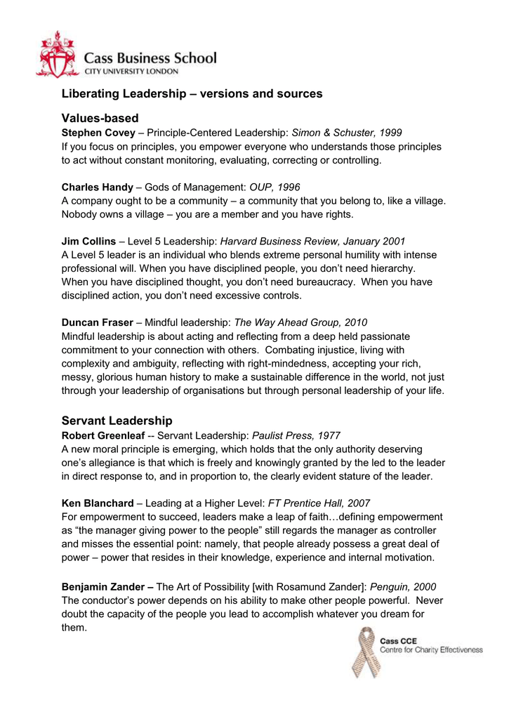 principle centered leadership definition