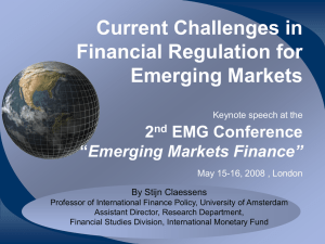 Current Challenges in Financial Regulation for Emerging Markets 2