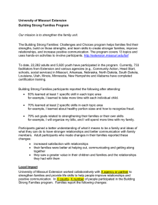 University of Missouri Extension Building Strong Families Program