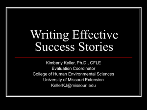 Writing Effective Success Stories