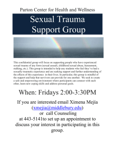 Sexual Trauma Support Group  Parton Center for Health and Wellness