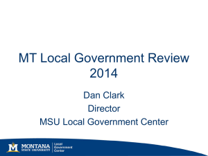 MT Local Government Review 2014 Dan Clark Director