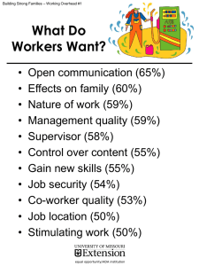 What Do Workers Want?