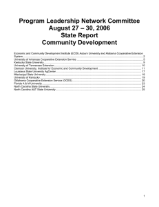 Program Leadership Network Committee – 30, 2006 August 27 State Report
