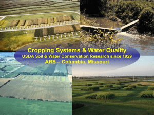 Cropping Systems & Water Quality – Columbia, Missouri ARS