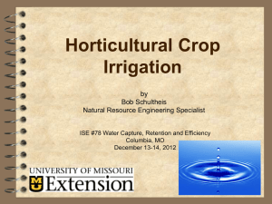 Horticultural Crop Irrigation by Bob Schultheis