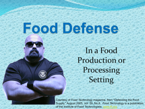 In a Food Production or Processing Setting