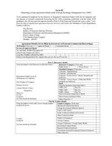 Form-83  (Reporting of loan agreement details under Foreign Exchange Management Act,...