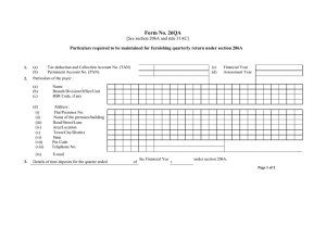 Form No. 26QA See