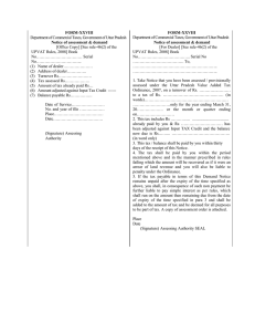 FORM-XXVIII Department of Commercial Taxes, Government of Uttar Pradesh