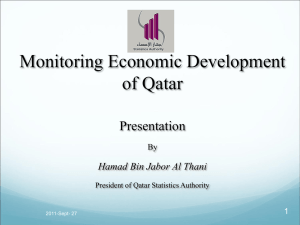 Monitoring Economic Development of Qatar Presentation Hamad Bin Jabor Al Thani