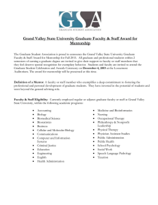 Grand Valley State University Graduate Faculty & Staff Award for Mentorship