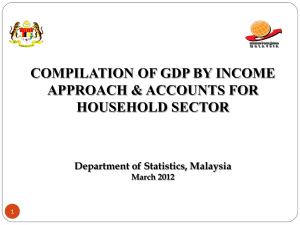 COMPILATION OF GDP BY INCOME APPROACH & ACCOUNTS FOR HOUSEHOLD SECTOR