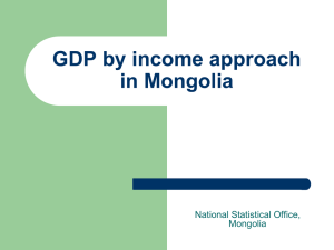 GDP by income approach in Mongolia National Statistical Office, Mongolia