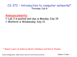 CS 372 – introduction to computer networks* Announcements: