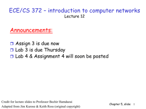 ECE/CS 372 – introduction to computer networks Announcements: