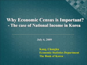 Why Economic Census is Important? Kang, Changku Economic Statistics Department