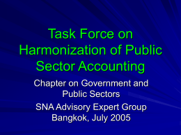 Task Force on Harmonization of Public Sector Accounting Chapter on Government and