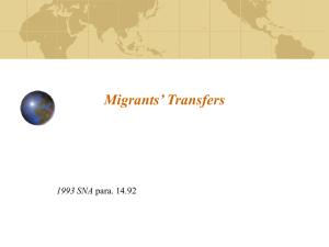 Migrants' Transfers 1993 SNA